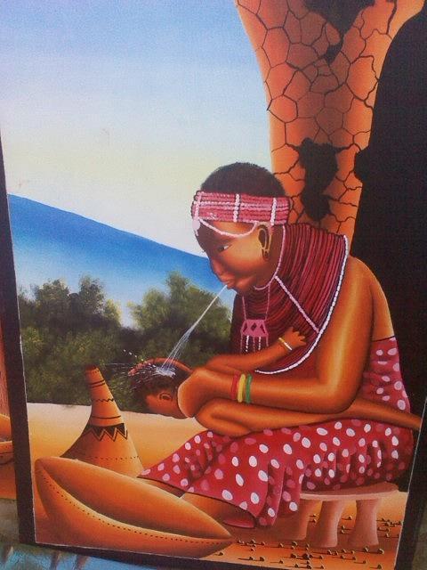Cultural Drawings Drawing by Amos Murigi