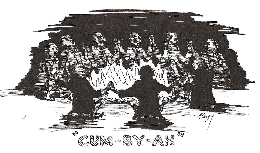 Cum By Ah Drawing by Roger Swezey