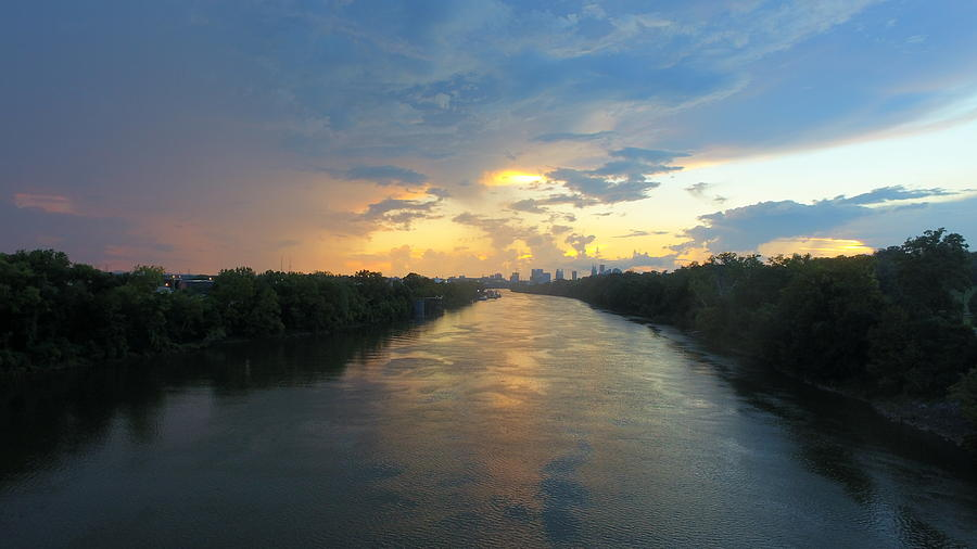 River Photograph - Cumberland River - Nashville  by Michael Tims