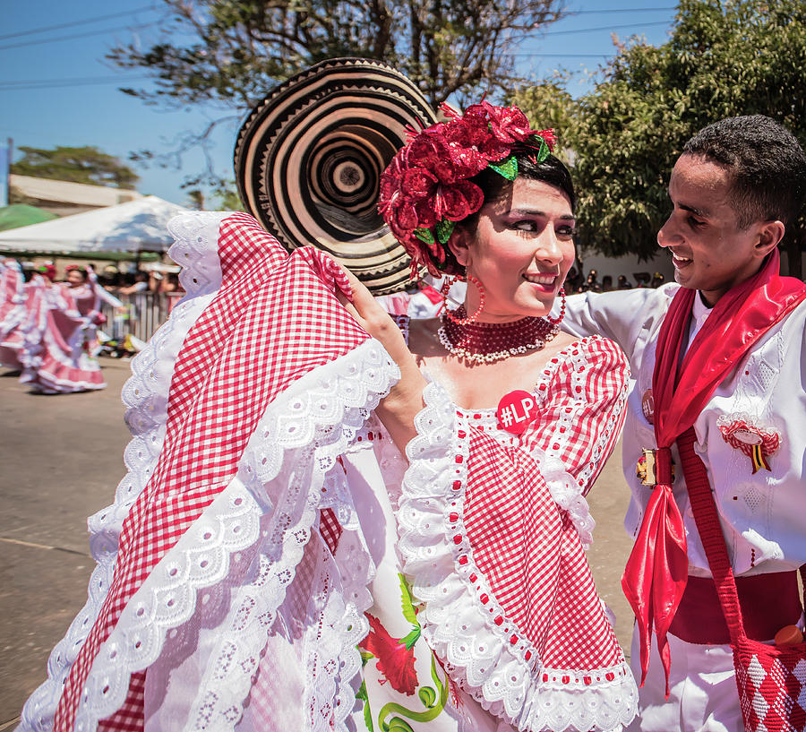 Carnival Photograph - Cumbia Dance at Barranquilla Carnival  by Victor Hugo