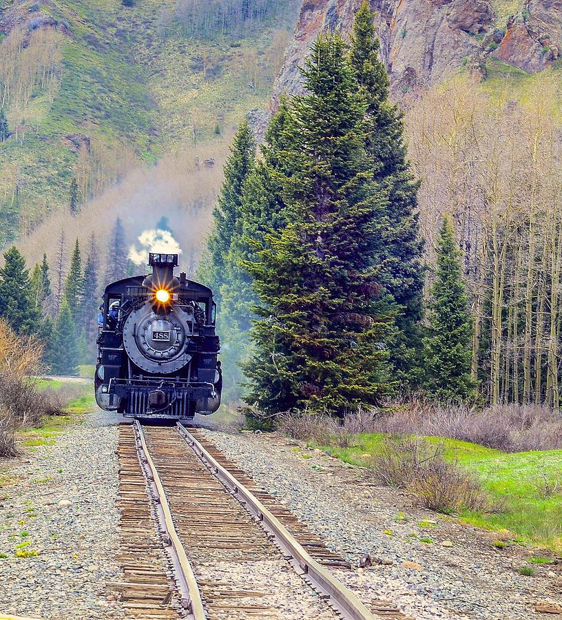 Train Photograph - Cumbres Toltec  Train by Larry Bodinson
