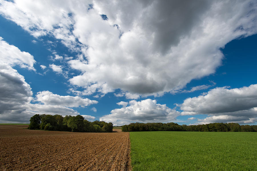 Cumulus Photograph - Cumulus Skies In France by Wim Slootweg