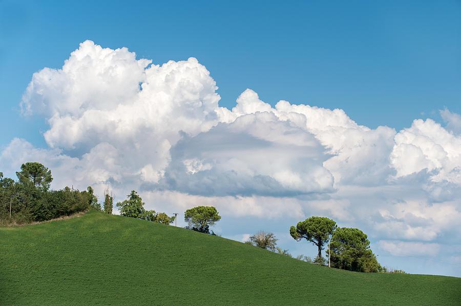 Cumulus Photograph - Cumulus sky by Wim Slootweg