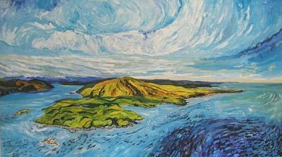 Landscape Painting - Cunshewa Head by Alfred Muma