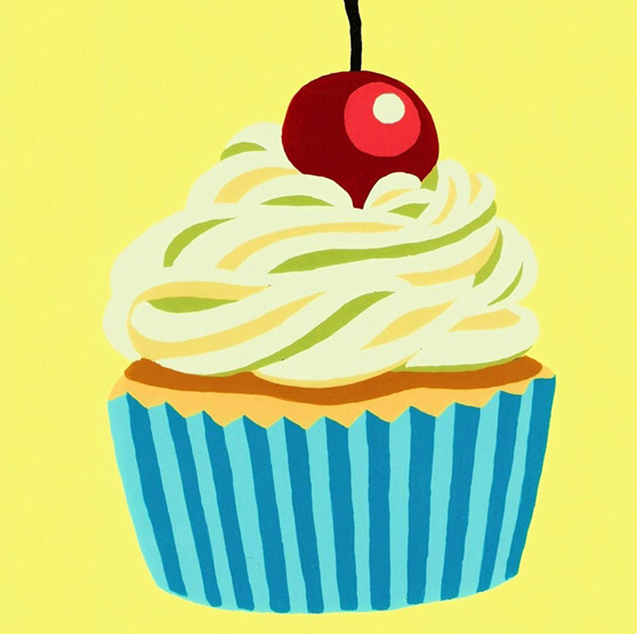 Cup Cake Painting - Cup Cake by Heli Luukkanen
