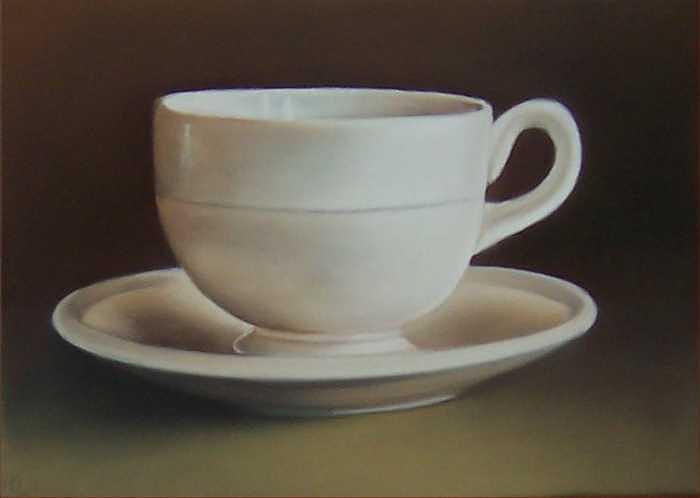 Teacup Drawing - Cup by Natasha Zivojinovic