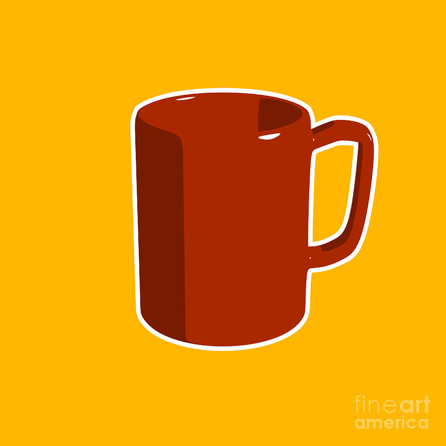 Cup Of Coffee Graphic Image Digital Art by Pixel Chimp