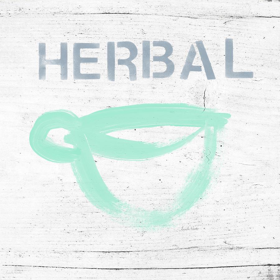 Cup Of Herbal Tea- Art By Linda Woods Painting