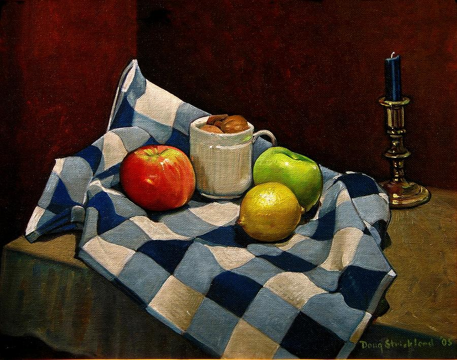 Fruit Painting - Cupboard Still Life by Doug Strickland