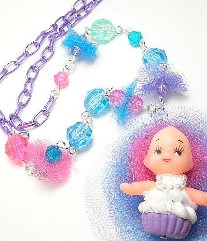 Pendant Jewelry - Cupcake Kewpie Baby Doll by Razz Ace