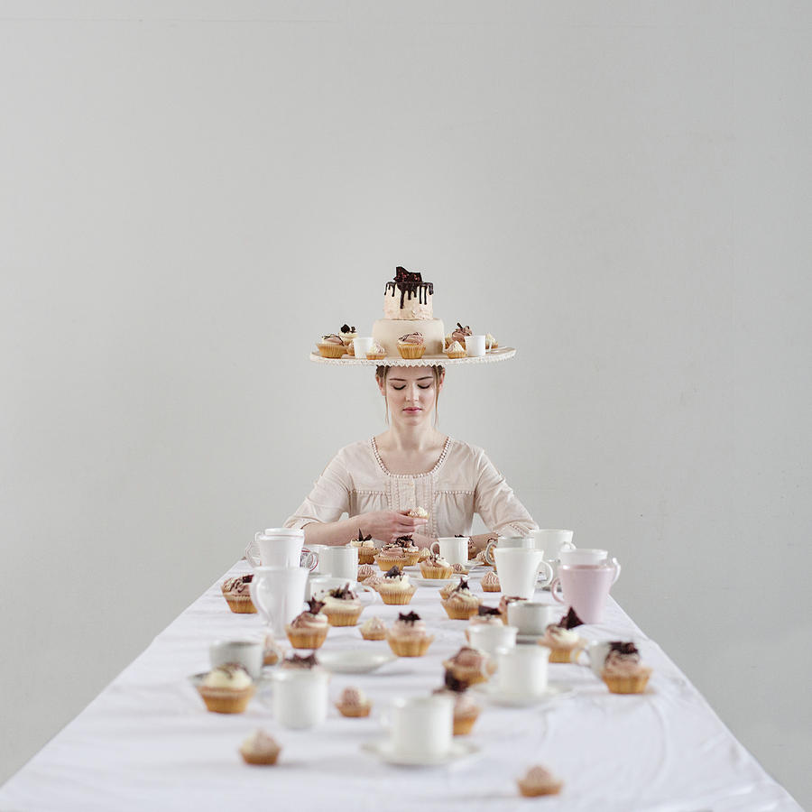 Portrait Photograph - Cupcakes by Dasha Pears