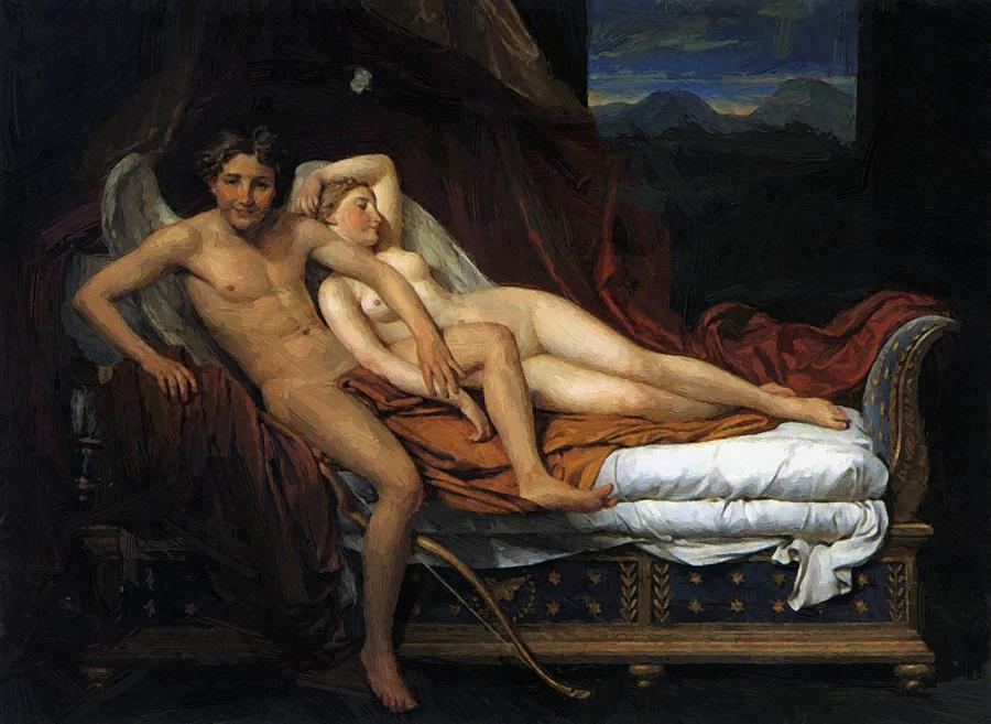 david and psyche louis Jacques cupid