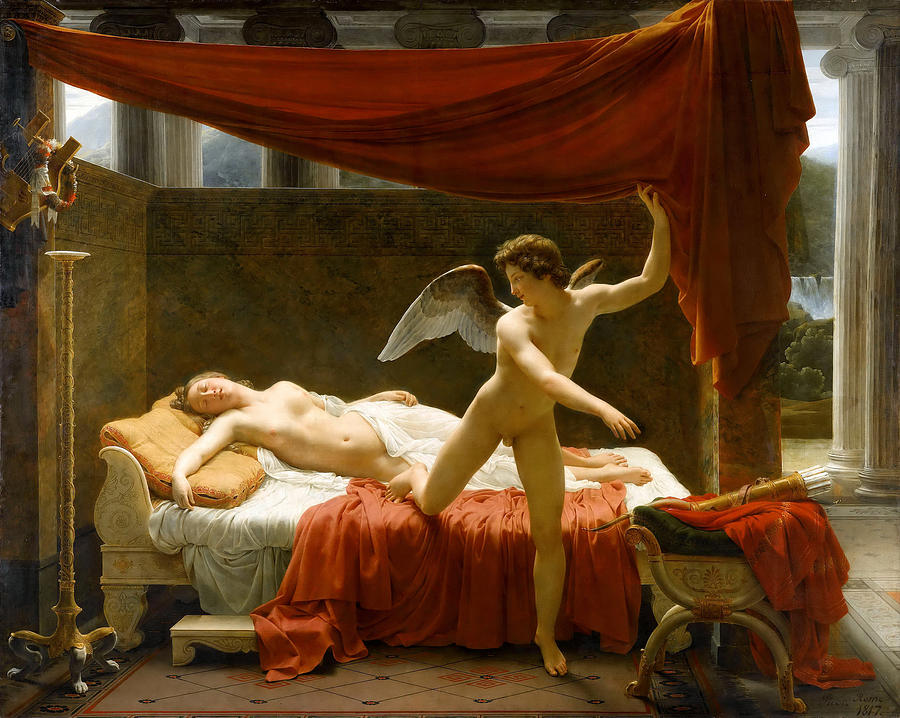 cupid and psyche painting by francois edouard picot