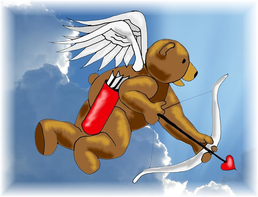 Bear Digital Art - Cupid Bear by Scarlett Royal