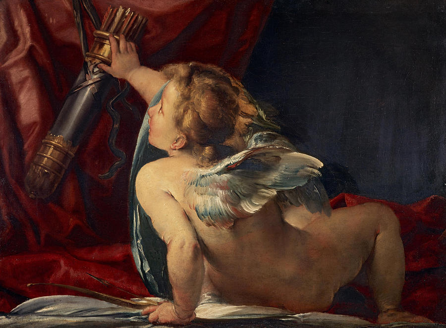 Giulio Painting - Cupid by Giulio Cesare Procaccini