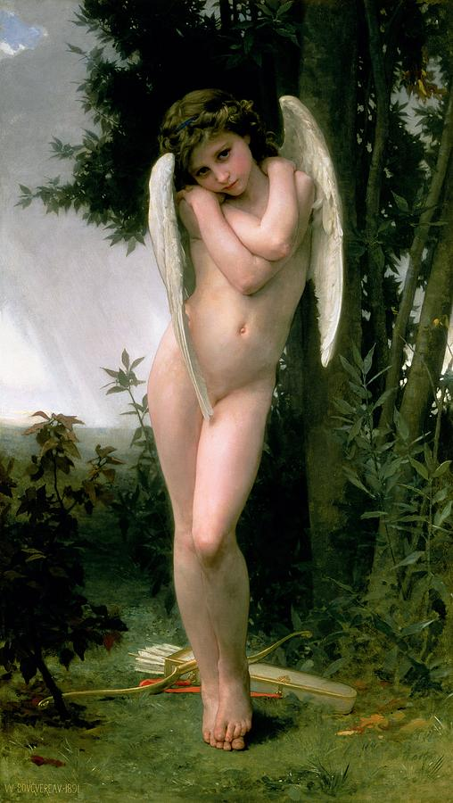 William Adolphe Bouguereau Painting - Cupidon by William Adolphe Bouguereau