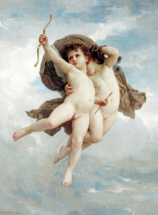 William-adolphe Bouguereau Painting - Cupids by Adolphe William Bouguereau