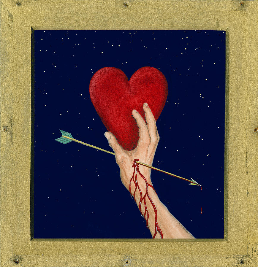 Cupid Painting - Cupids Arrow by Charles Harden