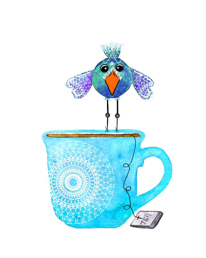 Abstract Digital Art - Cuppa Series - Tea Taster by Moon Stumpp