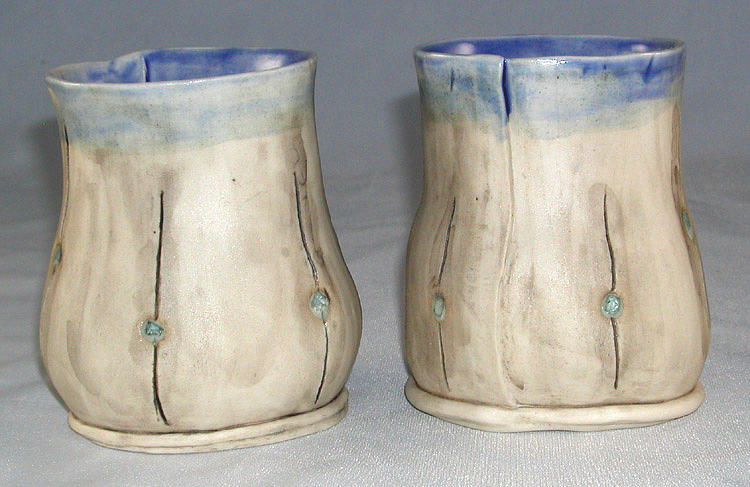 Cups Ceramic Art - Cups by Janet Wyndham-Quin