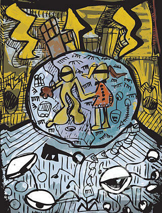 Curfew Painting by Fernando Fenestra