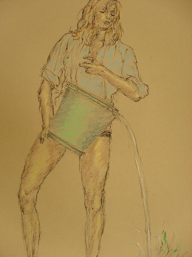 Figure Painting - Curing by Mohd Raza-ul Karim