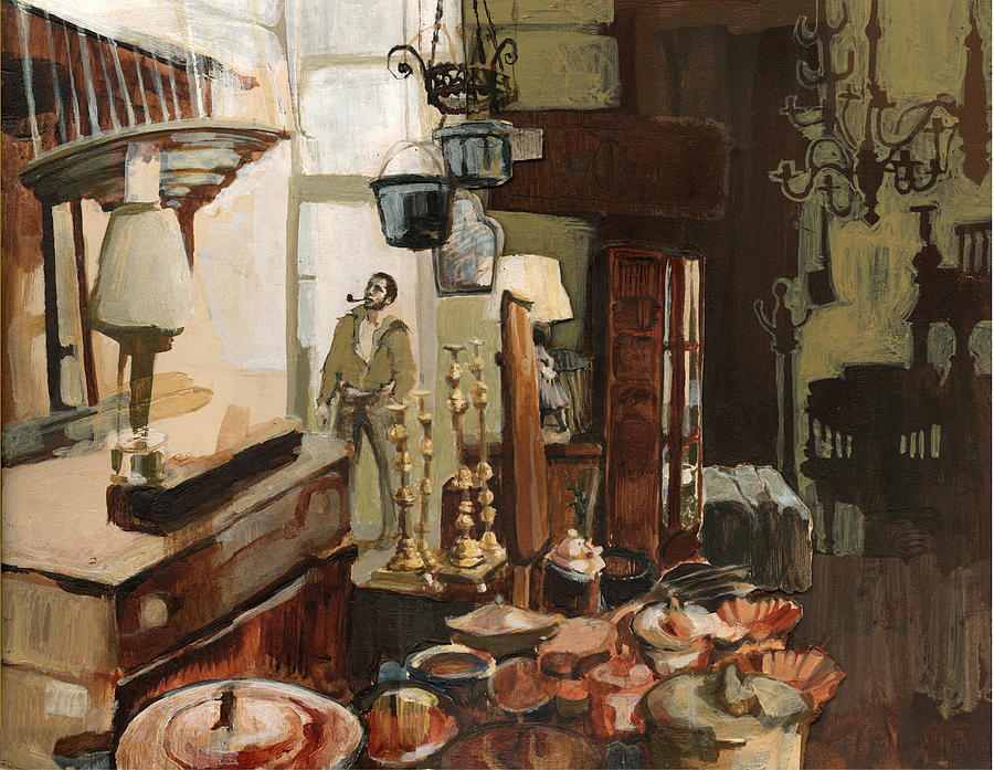 Interior Painting - Curio Shop by Nancy Watson