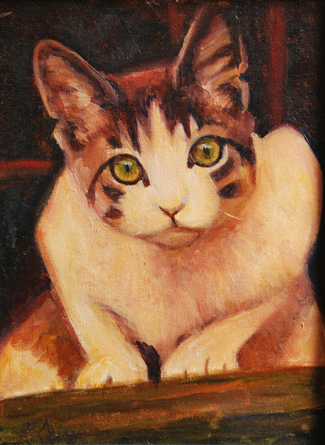 Calico Cats Painting - Curiosity by Billie Colson