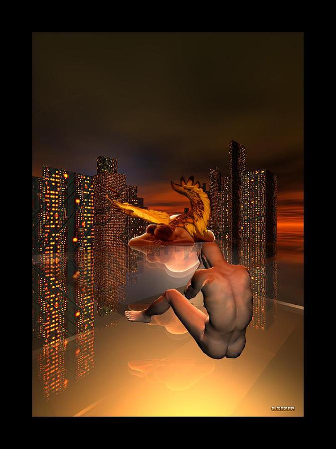 Nu Digital Art - Curiosity by Gezer Coskun