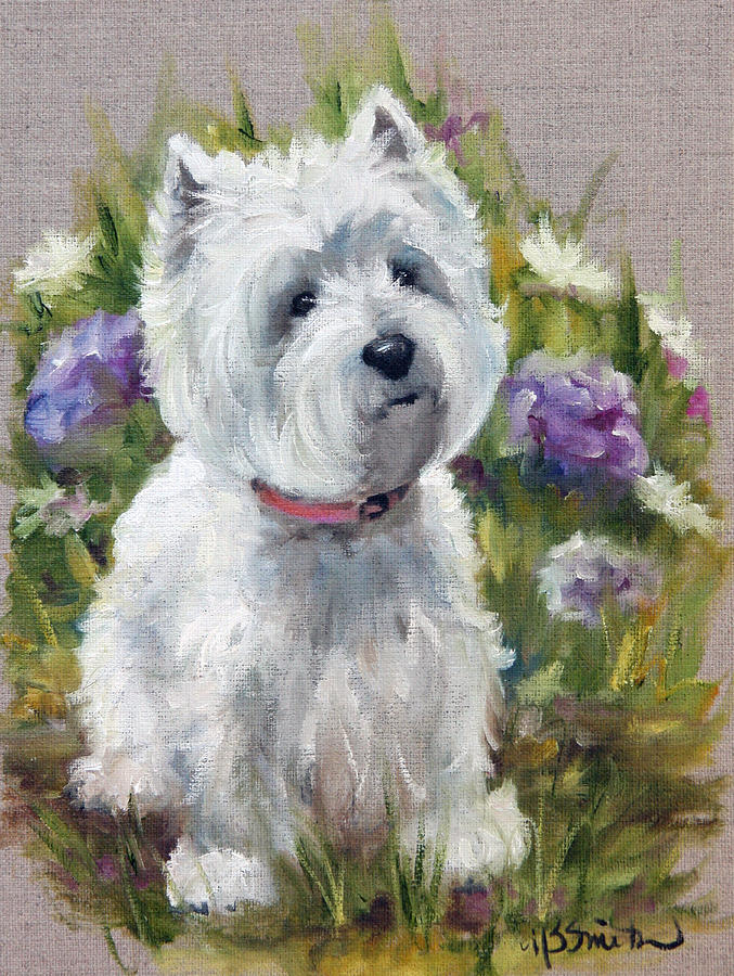 Westie Painting - Curiosity by Mary Sparrow