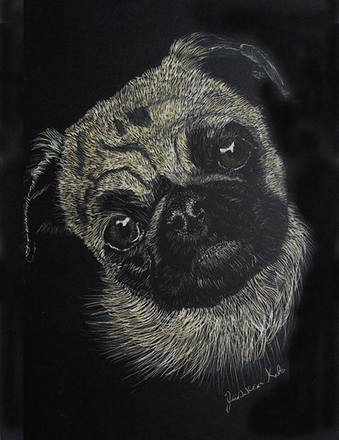 Pug Mixed Media - Curiosity Of The Pug by Jessica Kale