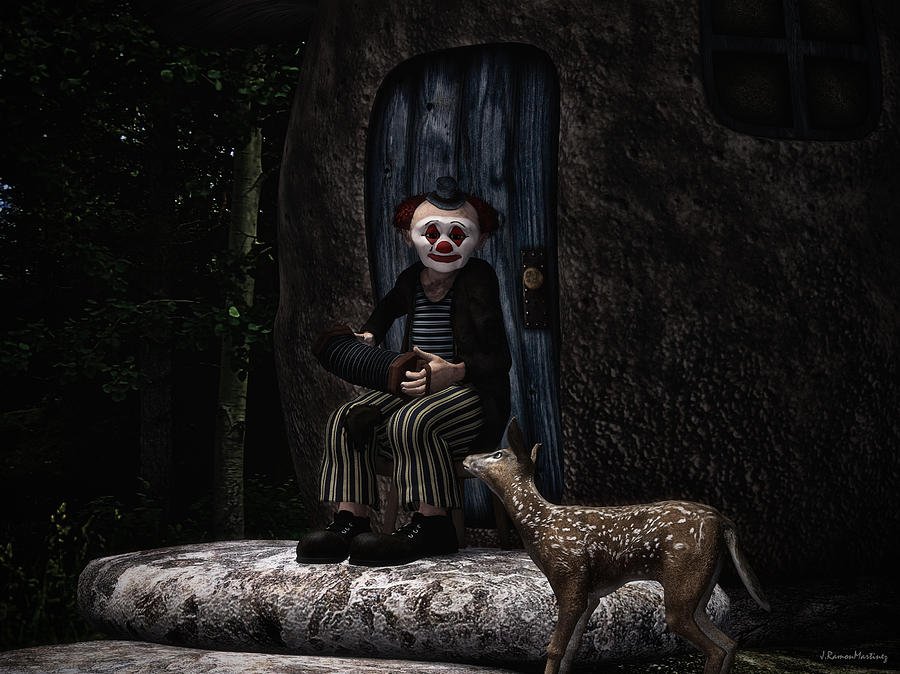 Fantasy Digital Art - Curiosity by Ramon Martinez