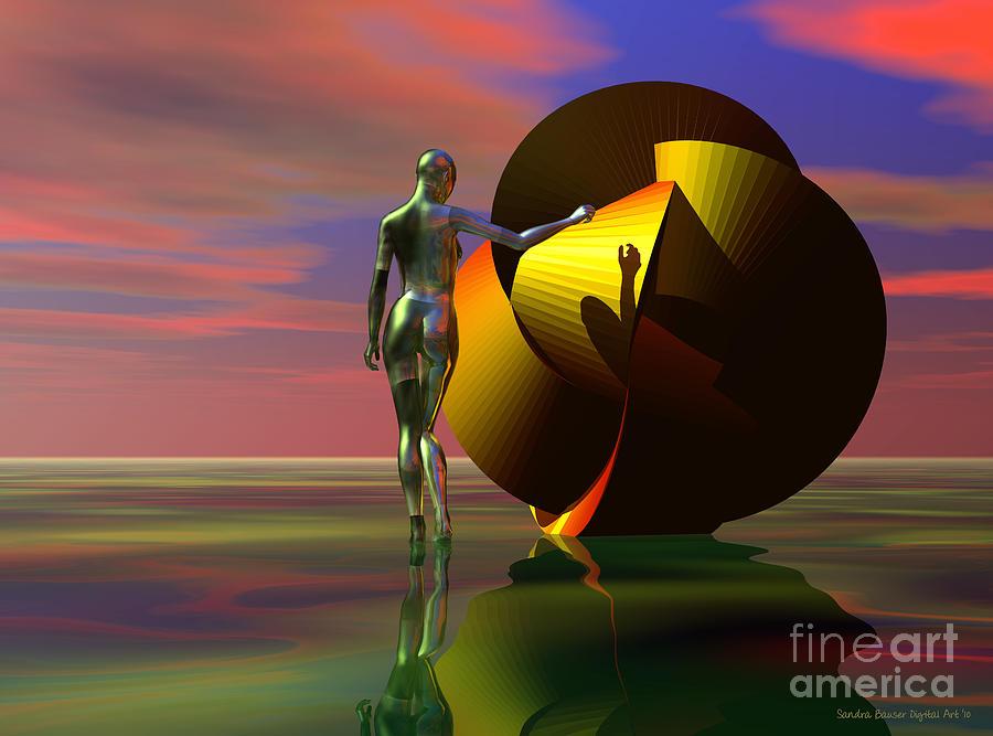 Sandra Bauser Digital Art - Curiosity by Sandra Bauser Digital Art