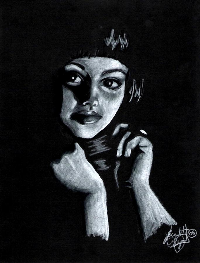 Portrait Drawing - Curiosity by Scarlett Royal