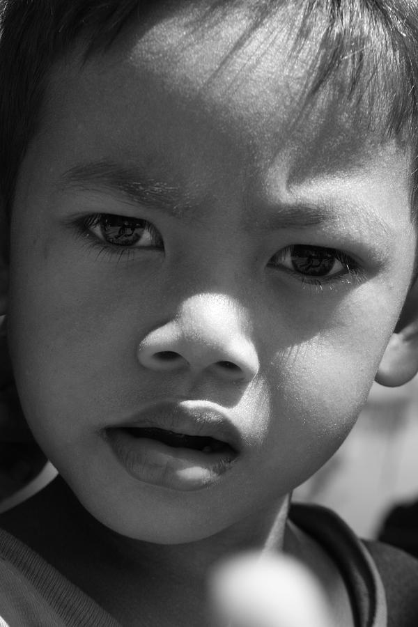 Curious Cambodian Child Photograph by Linda Russell