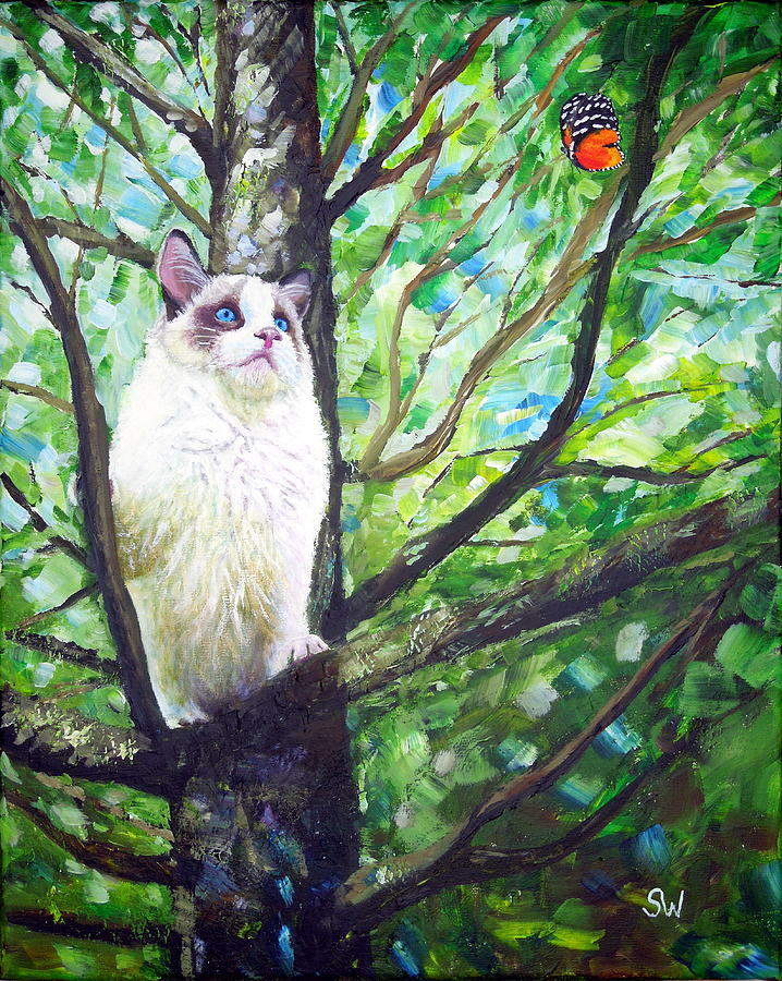 Curious Cat by Shirley Wellstead
