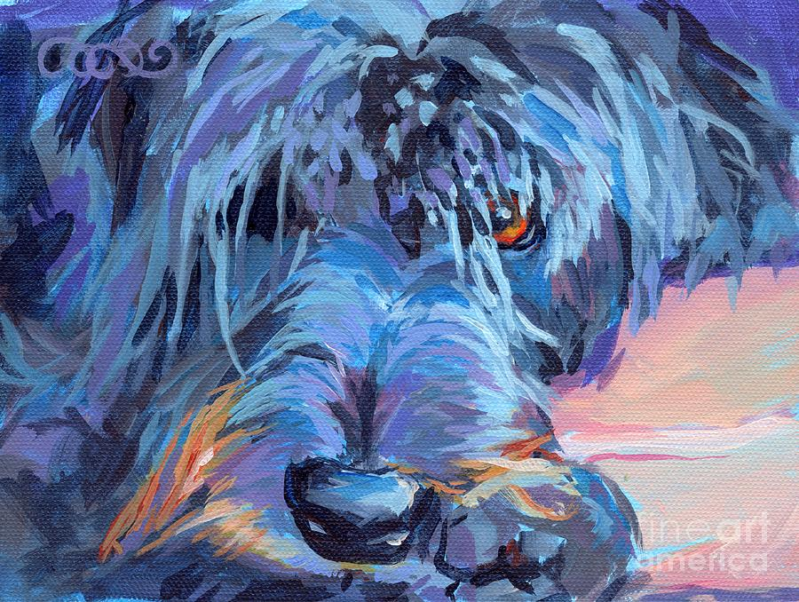 Labradoodle Painting - Curl by Kimberly Santini