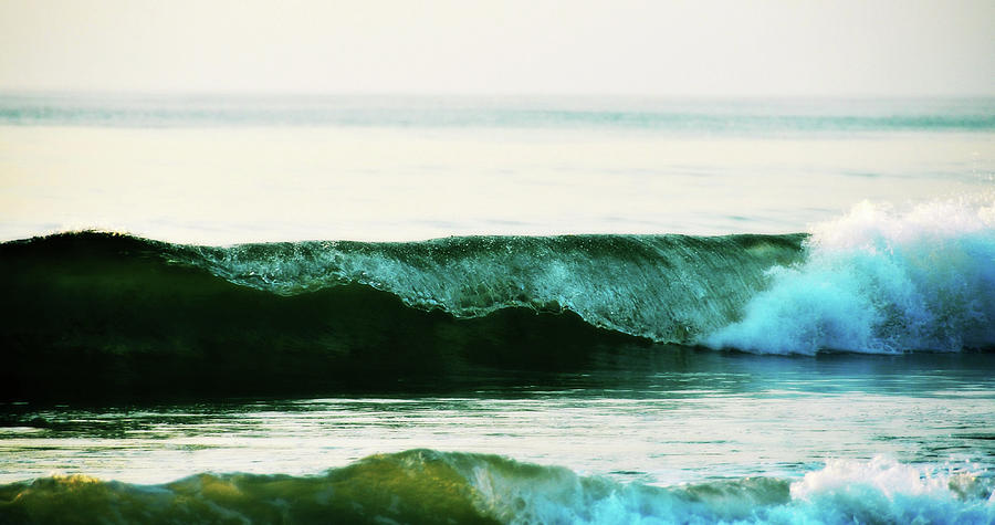 Breaking Photograph - Curling Surf by JAMART Photography