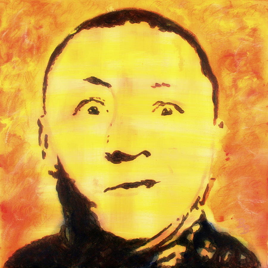 Curly Howard Three Stooges Pop Art by Bob Baker