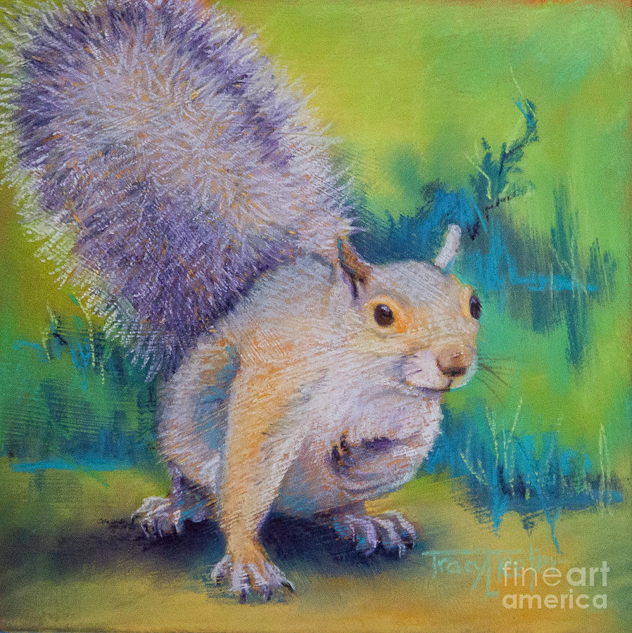 Squirrel Pastel - Curly by Tracy L Teeter