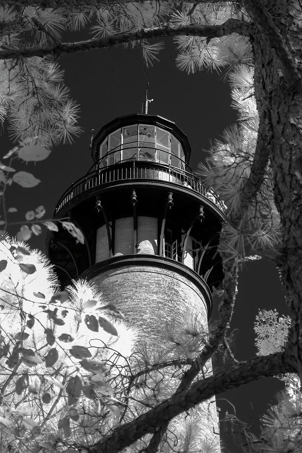 Currituck Beach Lighthouse in Infrared by Liza Eckardt