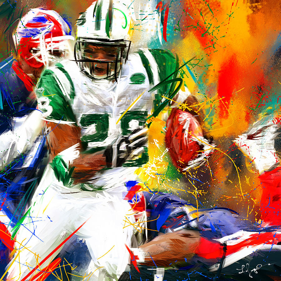 1564c488c7d Curtis Martin New York Jets Painting by Lourry Legarde
