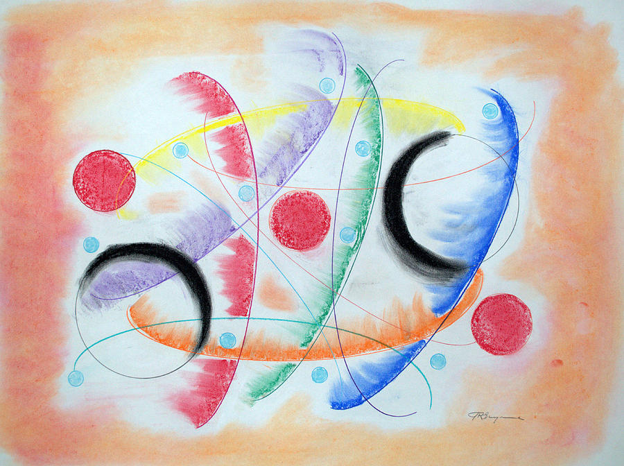 Abstract Drawing - Curvature by J R Seymour