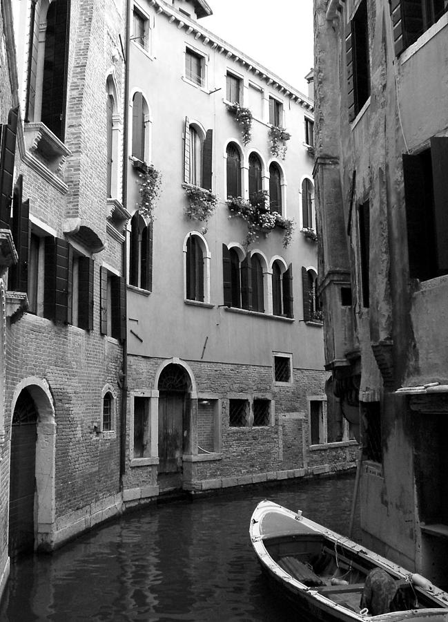 Venice Photograph - Curved Canal by Donna Corless