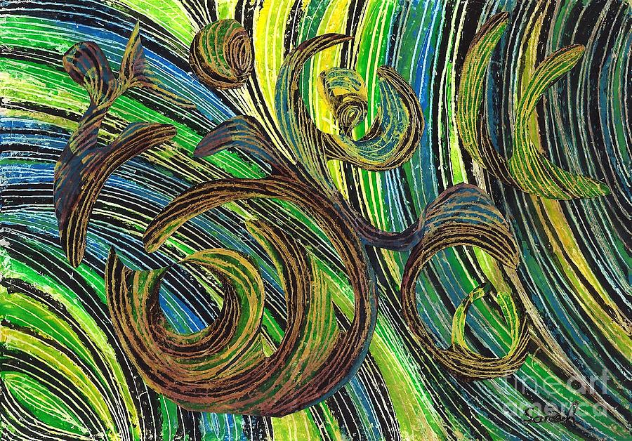 Abstract Drawing - Curved Lines 4 by Sarah Loft
