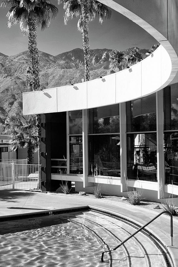 Palm Springs Photograph - CURVES AHEAD Black and White  by William Dey