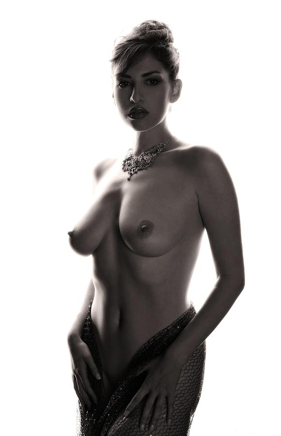 Nude Photograph - Study In Contrast #1 by Curt Johnson