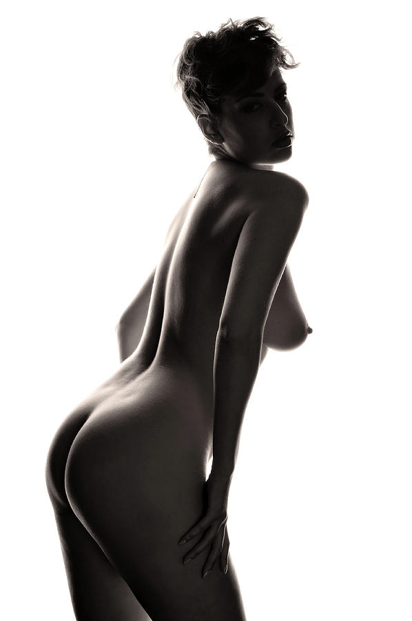 Nude Photograph - Study In Contrast #3 by Curt Johnson