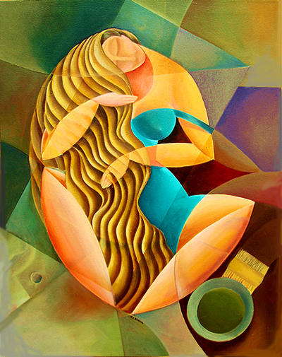 Curves Sun And Hinnah Painting by MJ Alhabeeb