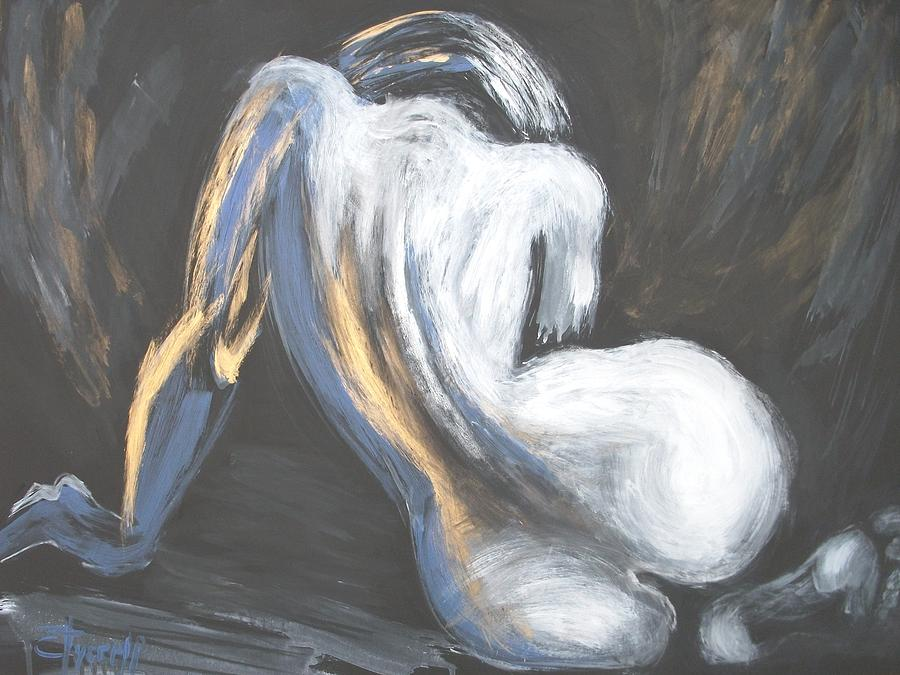 Female Painting - Curves18 by Carmen Tyrrell